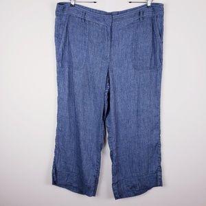 LOFT Chambray Wide Leg Pants Size XL